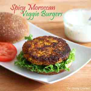 spicy millet chickpea veggie burgers moroccan recipe curry apricots grains healthy