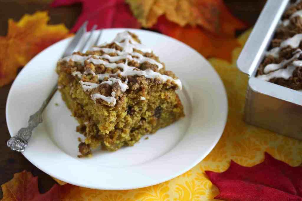 chocolate butterscotch pumpkin streusel crumb cake recipe dessert holiday baking fall autumn christmas thanksgiving halloween