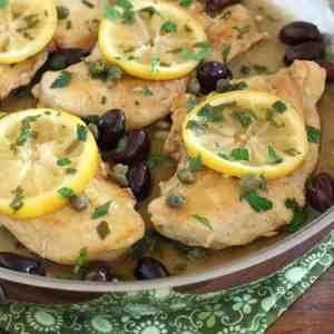 greek lemon chicken easy fast olives capers