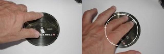 Basta appoggiare un dito sull'etichetta e fare girare più velocemente il disco