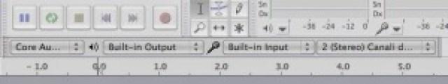 Spuntare la voce nel menu di Audacity per mac e win