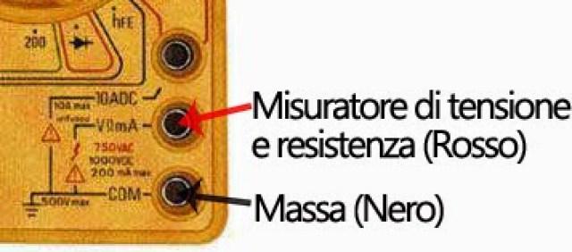tester e misuratore di tensione e massa