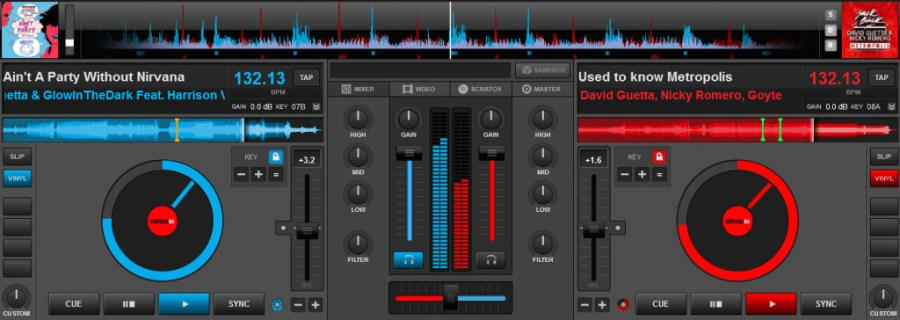 Virtual dj 8 decks
