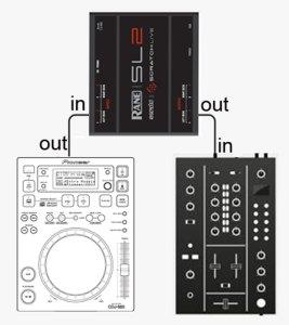 scheda audio come filtro