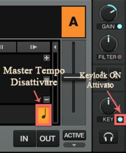 Master tempo e Keylock