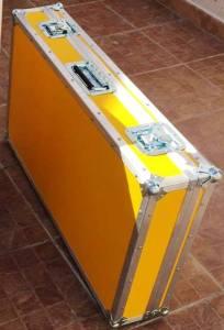 Flight case dj professionale giallo