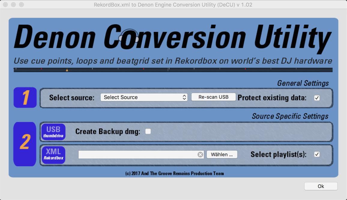 Denon Conversion Utility