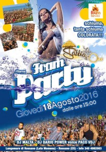 Schiuma Party - Lido Sabbia d'Oro