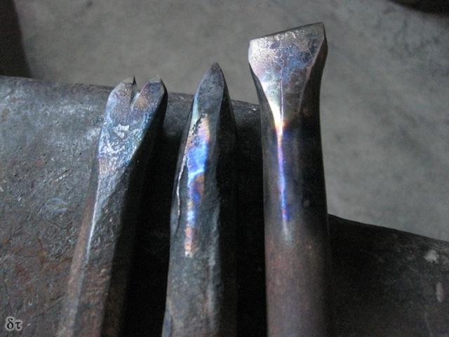 Dente di cane, subbia e scalpello