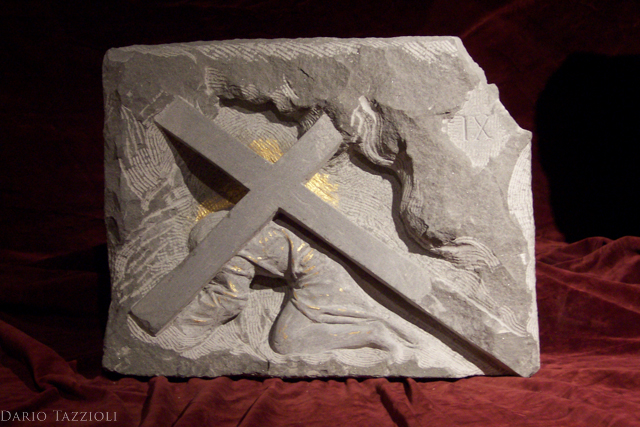 IX-Jesus falls the third time, 16.15x12.61x4 in