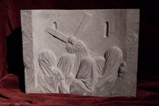 VIII-Jesus meets the woman of Jerusalem, 15.76x12.21x4 in