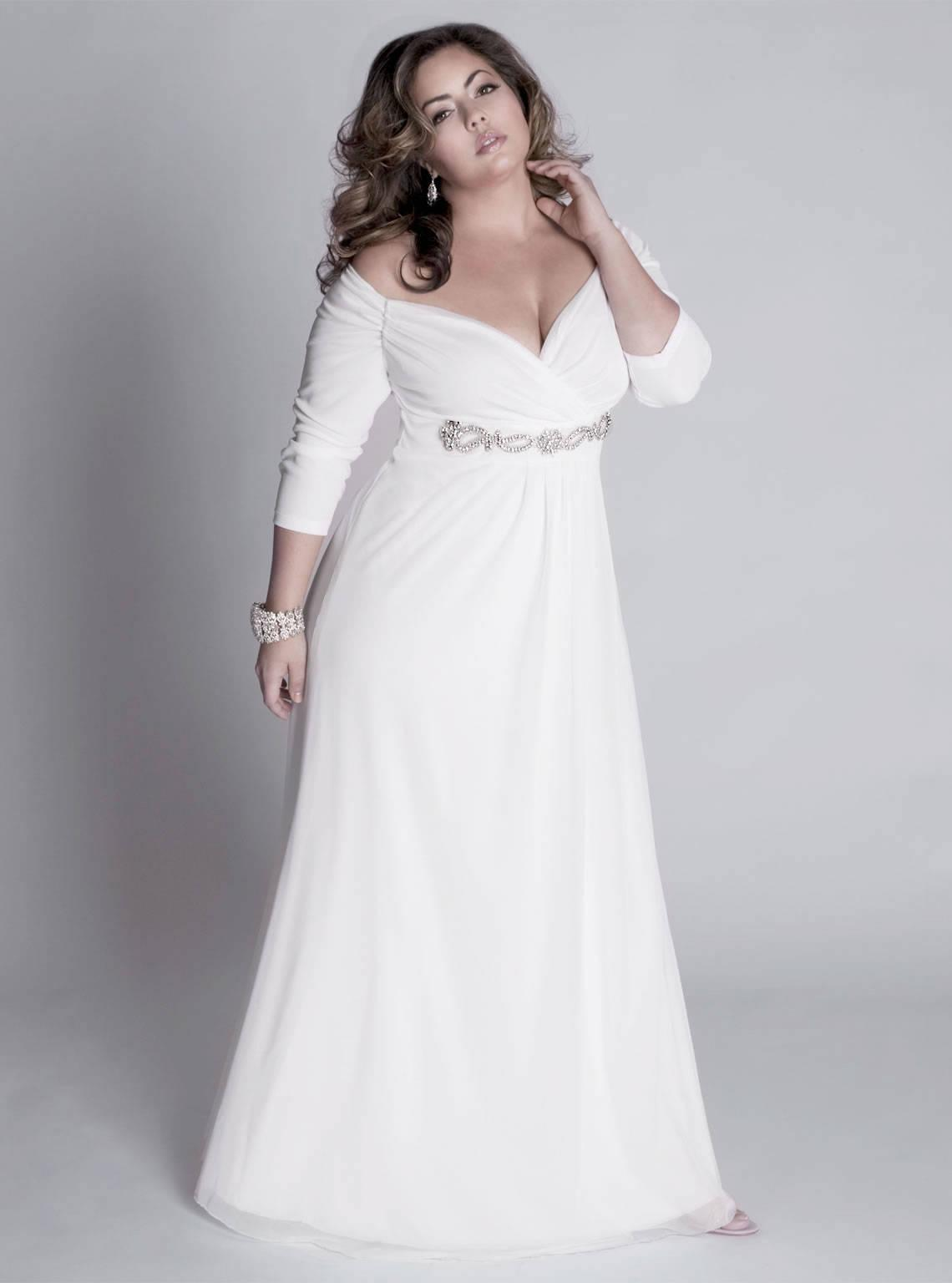 3/4 sleeve plus size evening gowns from Darius Custom Dresses
