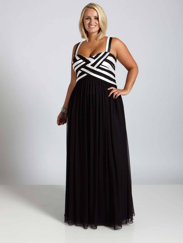 Black and White Plus Size Semi Formal Dresses - Darius Cordell ...