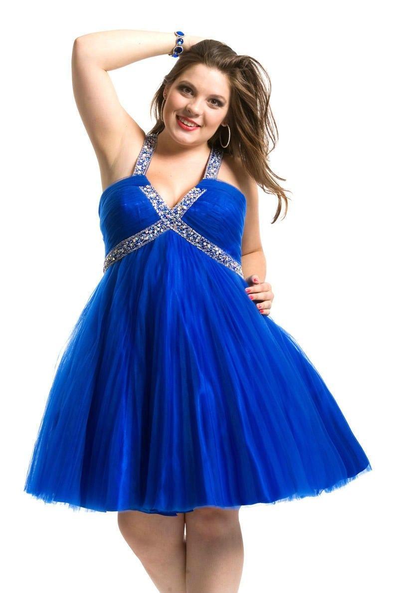 Style #C2013-84 short plus size prom dresses – DARIUS DESIGNS