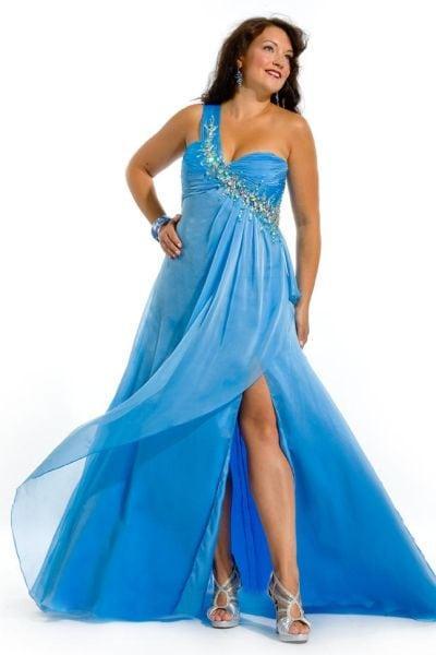Blue Plus Size Pageant Dresses - Darius Cordell Fashion Ltd