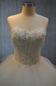 corset bodice organza wedding gowns  darius cordell