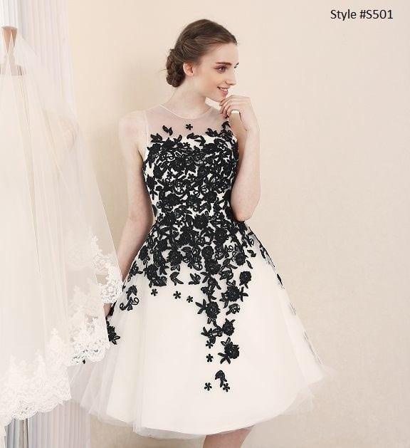 Black White Wedding Reception Dresses From Darius Couture