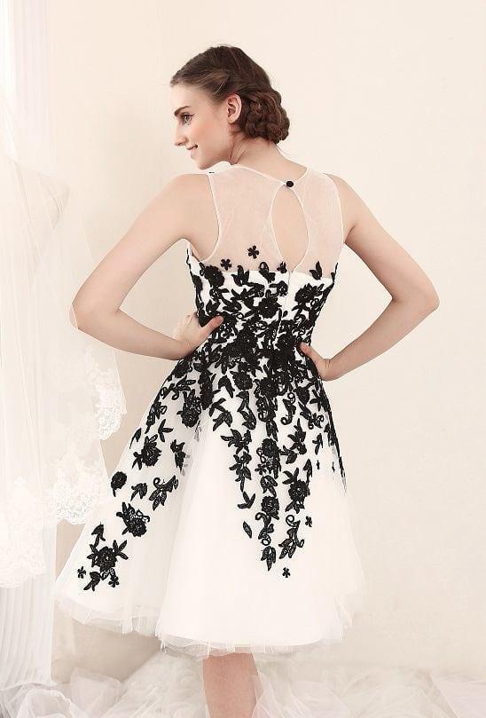 Black And White Wedding Dress.Style Fs501