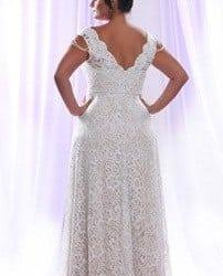 89150dc3cada5 back of Detachable Long Sleeve Wedding Dress for Plus Size Bride at Darius  Cordell