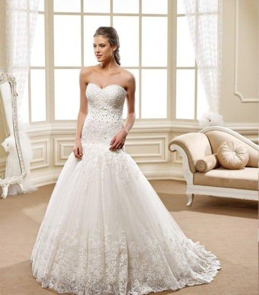 Style 5446 Strapless Fit And Flare Ball Gown Wedding Dress Darius Collection
