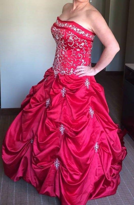 Plus Size Red Wedding Dresses - Darius Cordell Fashion Ltd