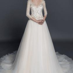 433993926e28 ... color bianco e oro con maniche lunghe. abiti da sposa lunghi fino al  gomito bianco e oro