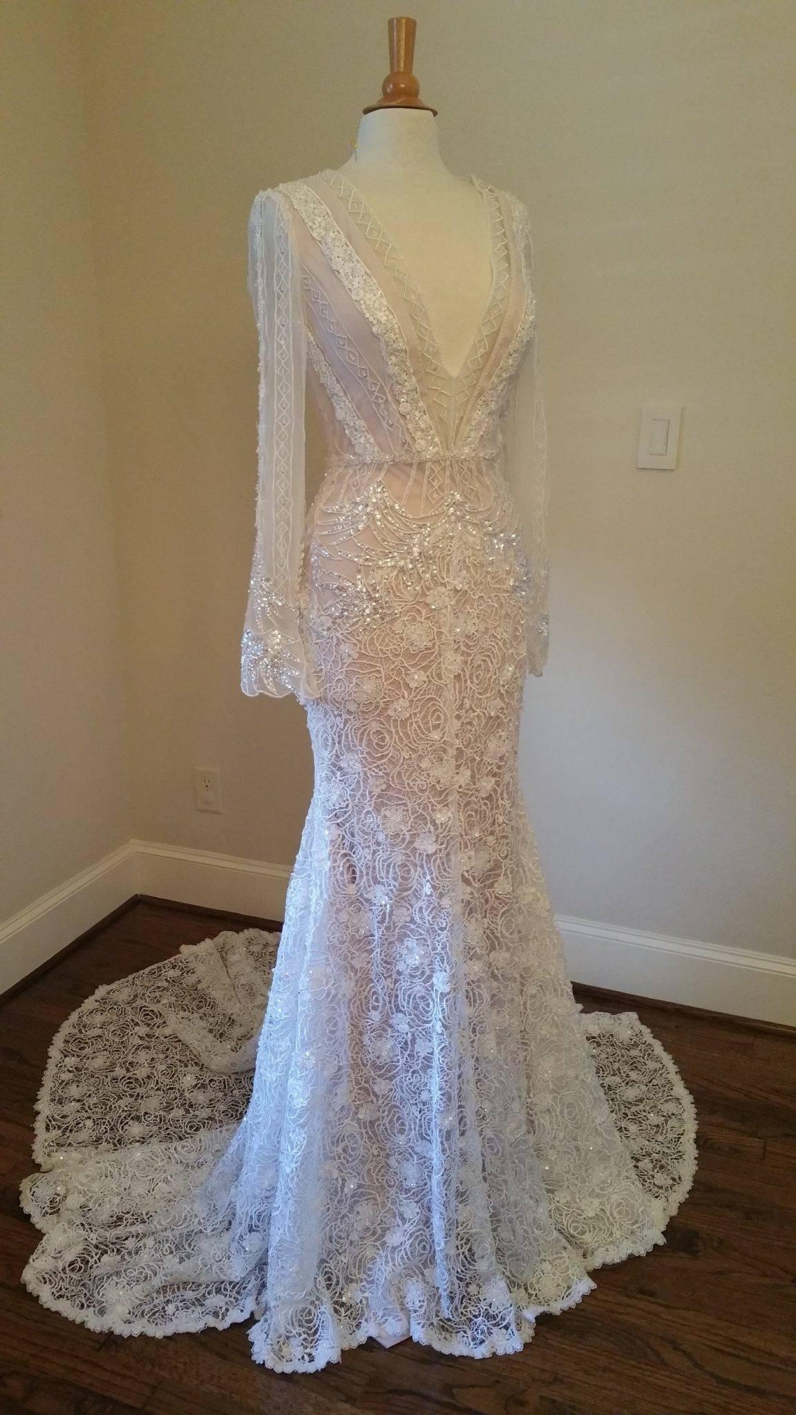 df002c52ca6e Long Sleeve wedding dress inspired by Inbal Dror made by Darius Cordell