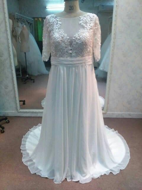 Short Sleeve Plus Size Wedding Dresses by Darius Bridal