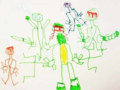 TEENAGE MUTANT NINJA TURTLES, TMNT, KIDS, DRAWING, TV SHOW
