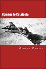 HOMAGE TO CATALONIA, GEORGE ORWELL, BOOK COVER, SPANISH CIVIL WAR, HISTORY