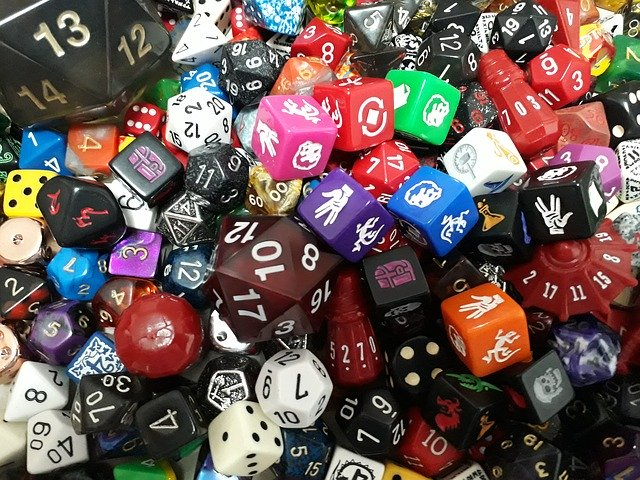 ROLEPLAYING GAMES, DICE
