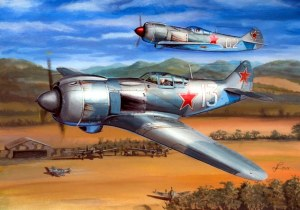 LA-5, WW2, FIGHTER, WARPLANES