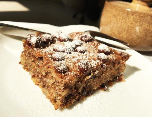 Schoko Walnuss Blechkuchen. Rezeptbild