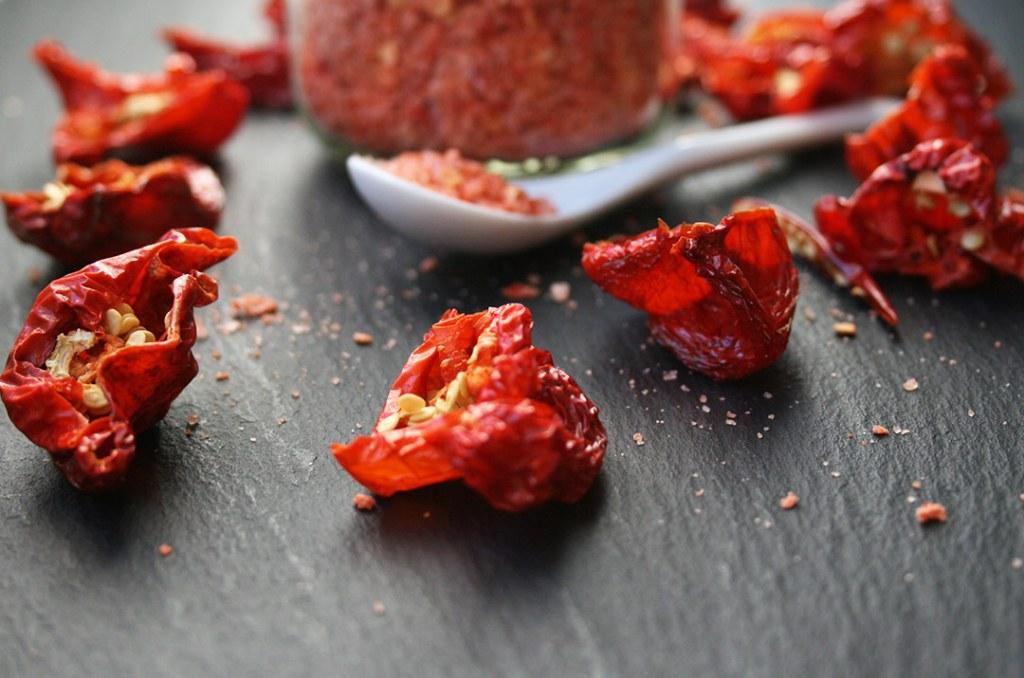 Foto von: Die getrockneten Chilischoten vom Chili Salz. Darjas Welt