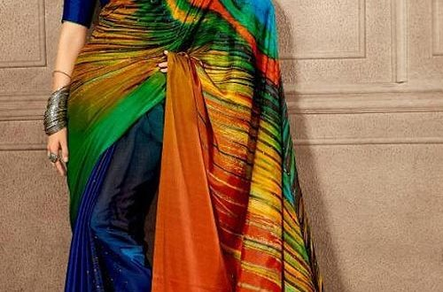 peacock designer saree