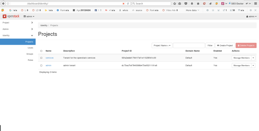 Create New Instance in Openstack via Openstack Dashboard