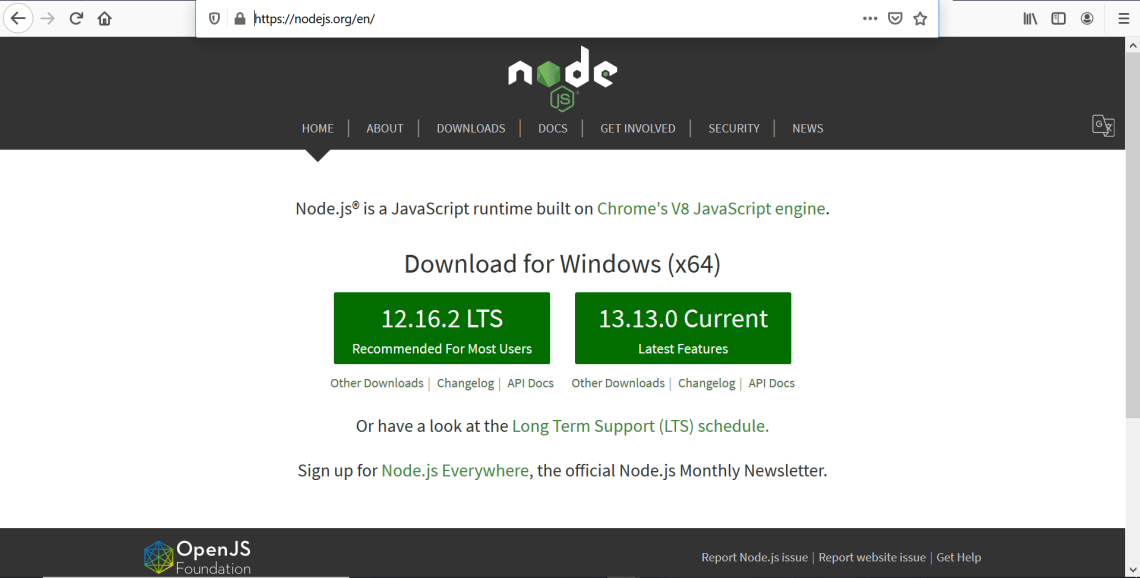 How to Install Node in Microsoft Windows
