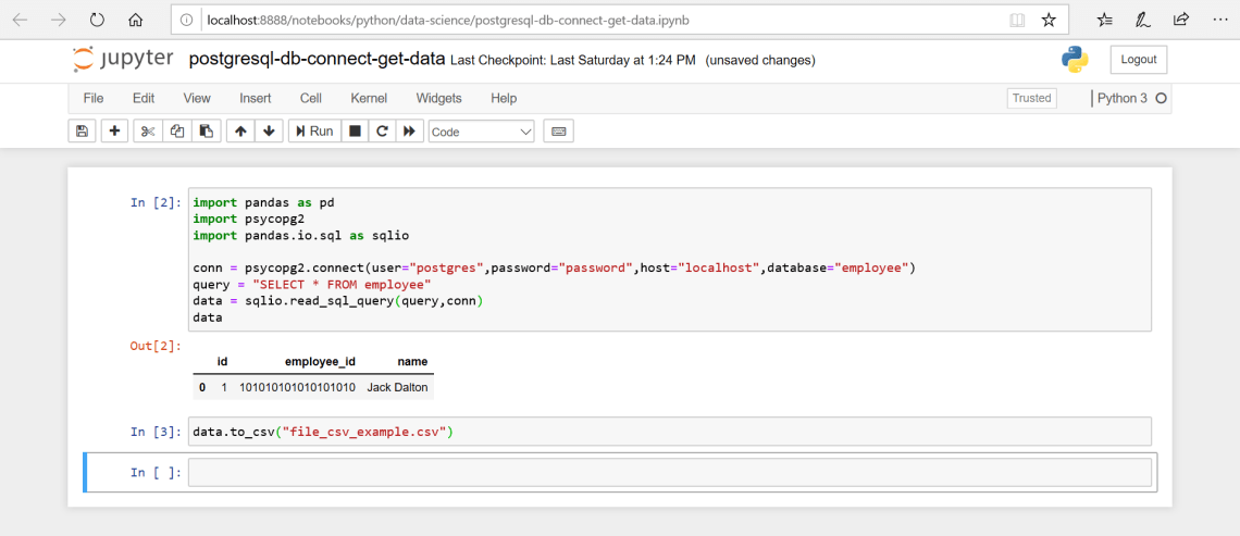 How to Write Data Available in a DataFrame to a CSV File using Pandas Library in Jupyter Notebook