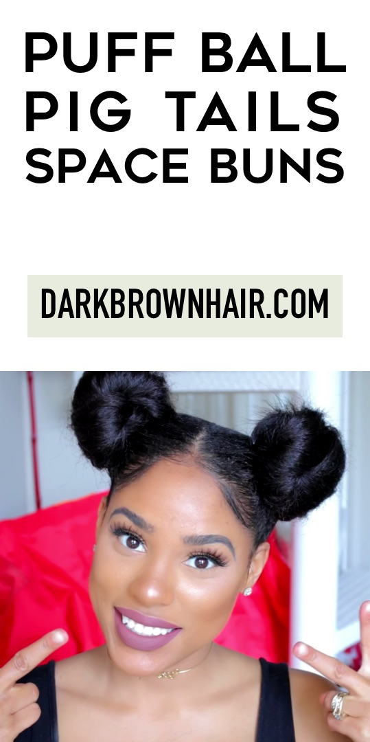Puff Ball Pig Tails (Space Buns)