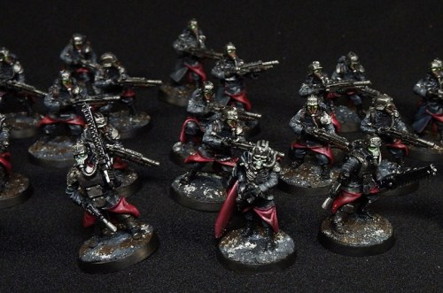 Simple Black red and silver troops