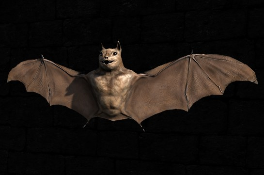 Bat game model, with diffuse, normal and specular maps applied.