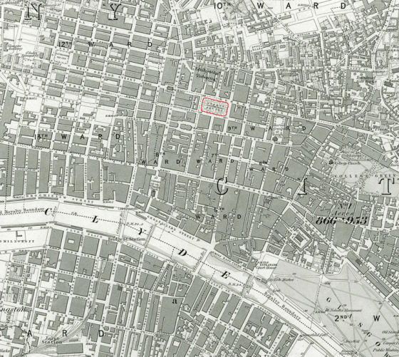1856 OS map of Glasgow