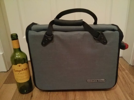 Not a small bag. Ortlieb quote 30x17x40cm with a total volume of 21 litres, if you don't drink wine often enough for that to be instantly apparent.