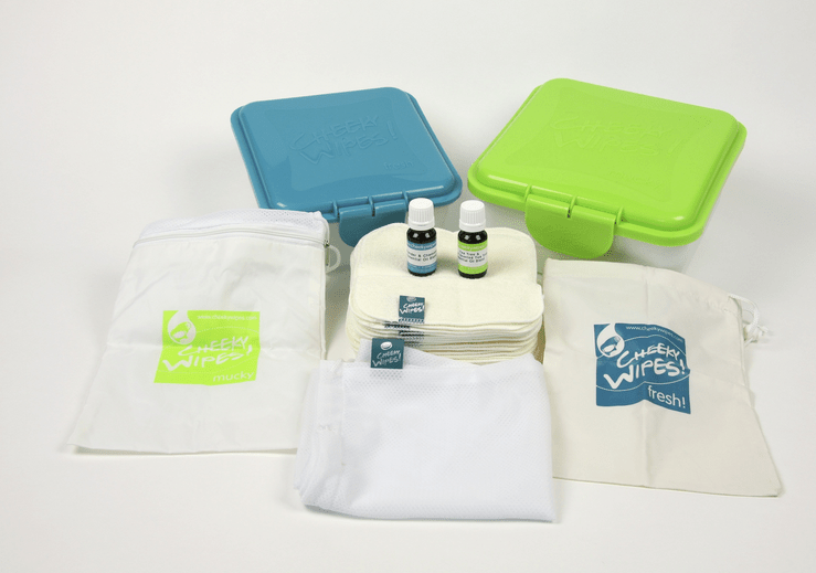 Photo of the Cheeky Wipes kit.
