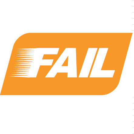 The words FAIL in the style of the SPT logo