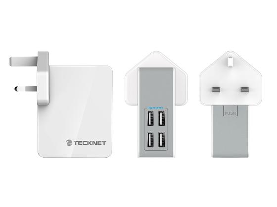 Plug with four USB sockets.