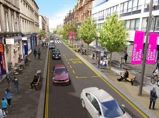 Sauchiehall St CGI image 2