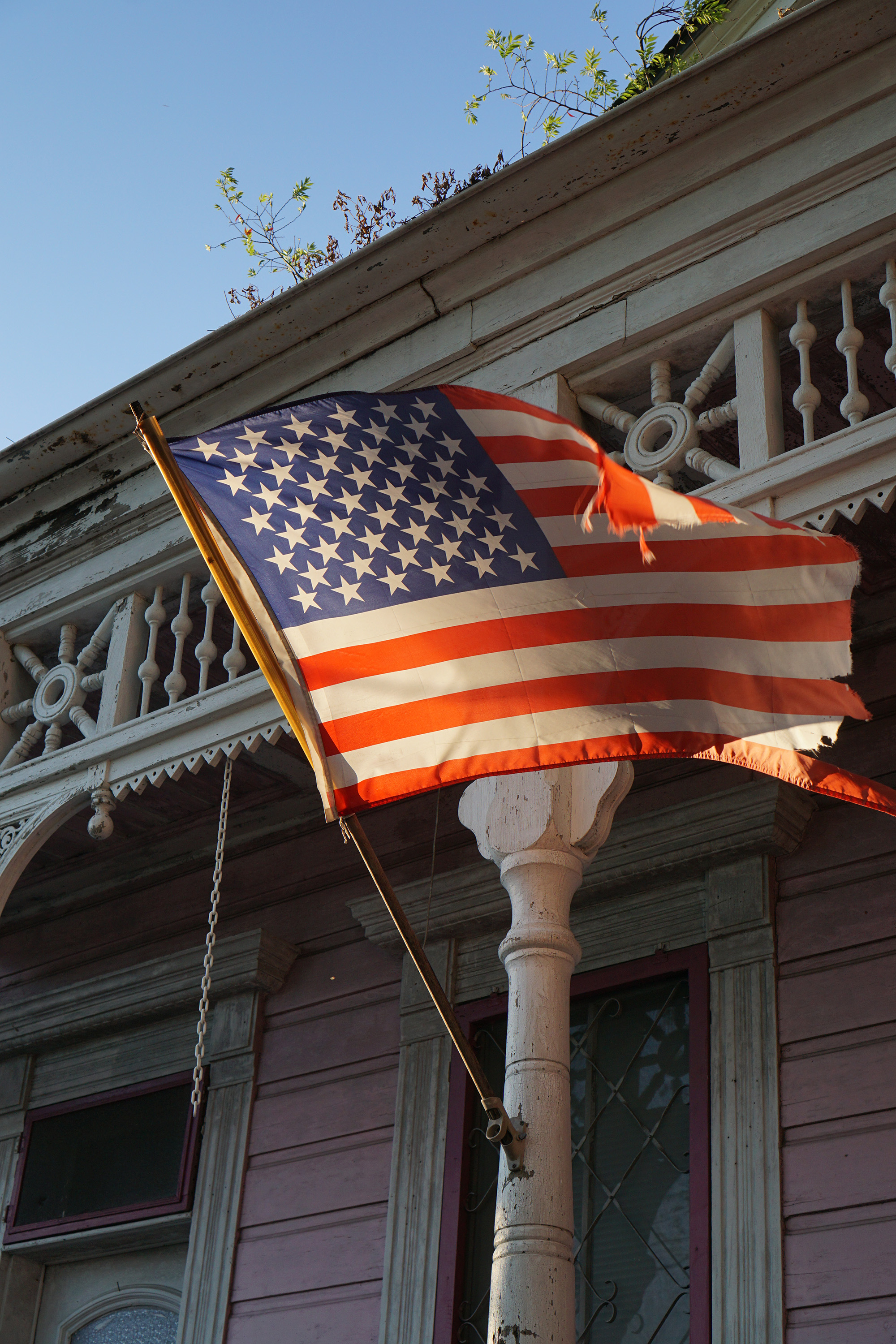 American flag in the Marigny, New Orleans / Darker than Green