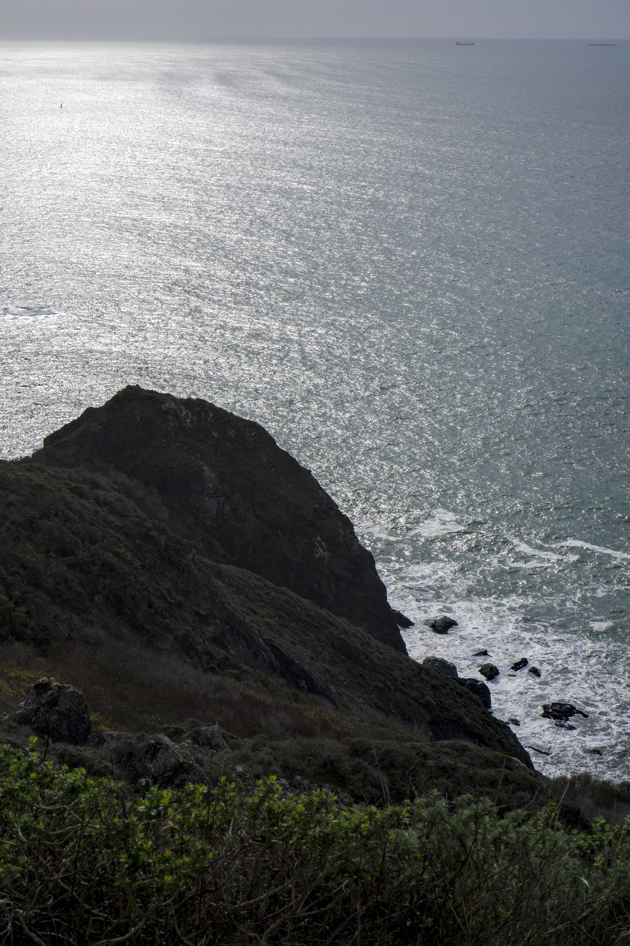 Pacific Ocean from Tennessee Valley Trail, Marin Headlands, Golden Gate National Recreation Area / Darker than Green