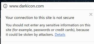 Your Connection to this site is not secure.